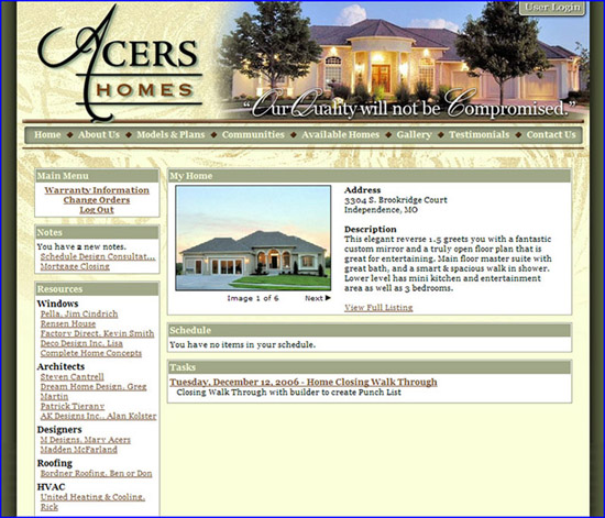 Acers Homeowner Management System